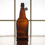 EZ Cap 1 liter Amber Flipper, Case of 12