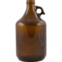 Amber Pistol Grip Beer Growler - 64 oz