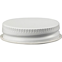 White Metal Screw Cap for Growlers and Jugs (38 mm)