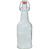 EZ Cap Flip Top Beer Bottles - 16 oz. Clear (Case of 12)