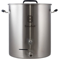 Stainless Steel BrewBuilt™ Brewing Kettle - 10 Gallon
