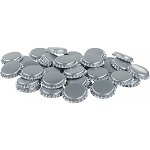 Silver Beer Bottle Caps 60 Count