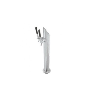 3 Taper Cut Tower 2 Faucets Ss Polished Air Cooled