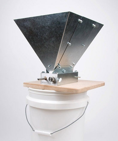 Monster Brewing Hardware MM-2 Grain Mill with Hopper and Base