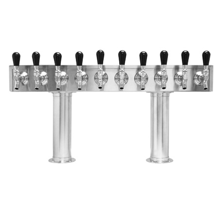 Beer Tower 10 FAUCET - Pass Thru 3 inch PEDESTAL - Glycol