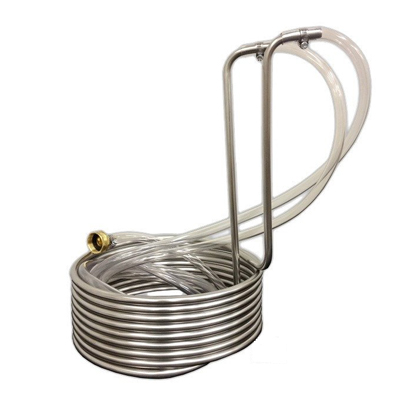 Immersion Wort Chiller - 25  Standard Stainless Steel (3/8