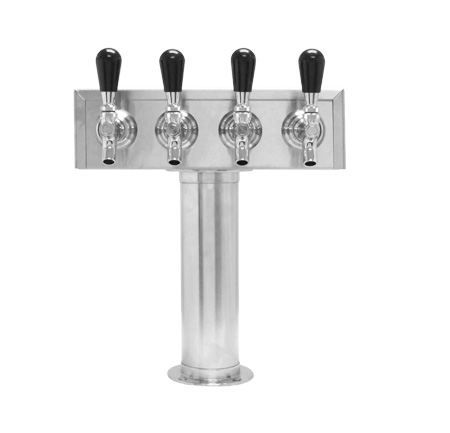 Beer Tower 4 FAUCET - 3 inch PEDESTAL - Glycol