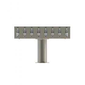 T Tower – 8 Faucets – Brushed Stainless – Glyco Cold Technology