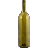750 mL Antique Green Bordeaux Wine Bottles - Case of 12