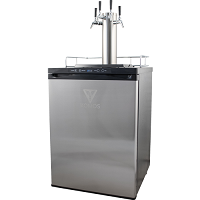 KOMOS® V2 Kegerator with Stainless Steel Intertap Faucets