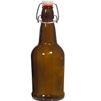 EZ Cap Flip Top Beer Bottles - 16 oz. Amber (Case of 12)