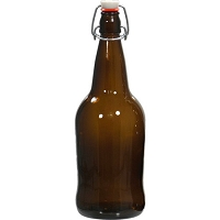EZ Cap Flip Top Beer Bottles - 32 oz. Amber (Case of 12)