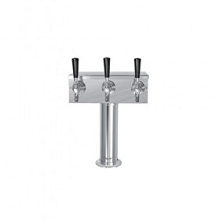 T Tower – 3 Faucets – SS Polished – Air Cooled