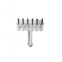 T Tower – 6 Faucets – Brushed Stainless – Air Cooled