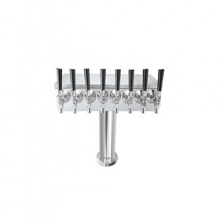 T Tower – 8 Faucets – Brushed Stainless – Air Cooled