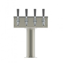 T Tower – 4 Faucets – Brushed Stainless – Air Cooled