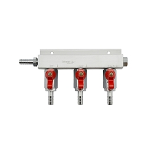 3 Way Gas Distributor Without PRV (Aluminium)