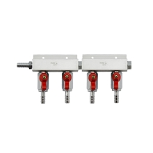4 Way Gas Distributor Without PRV (Aluminium)